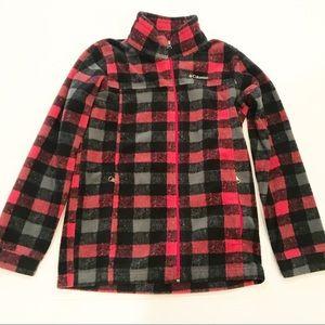 Columbia Kids Plaid Fleece Zip Up Jacket